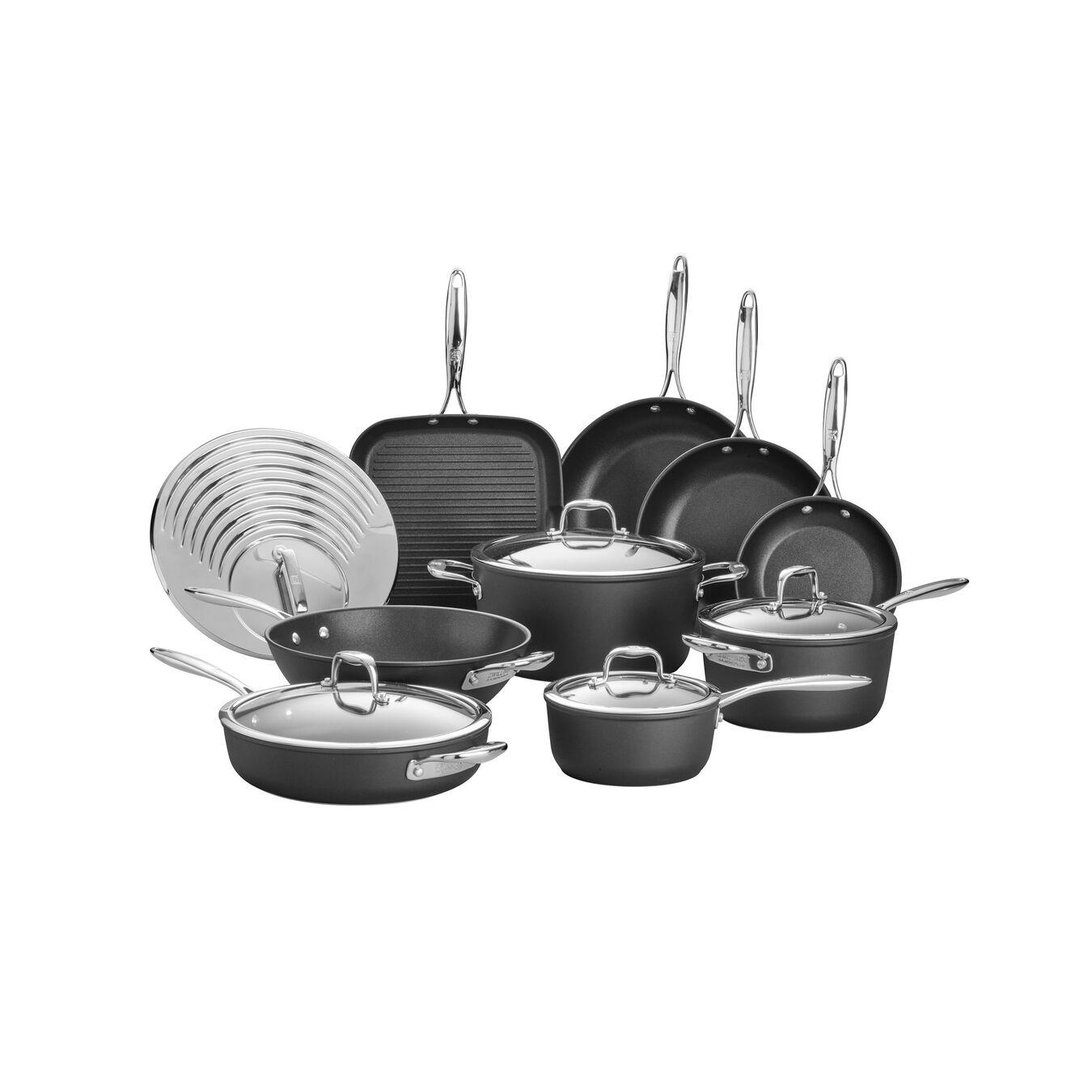 14-pc Pot set, aluminium ,,large 1