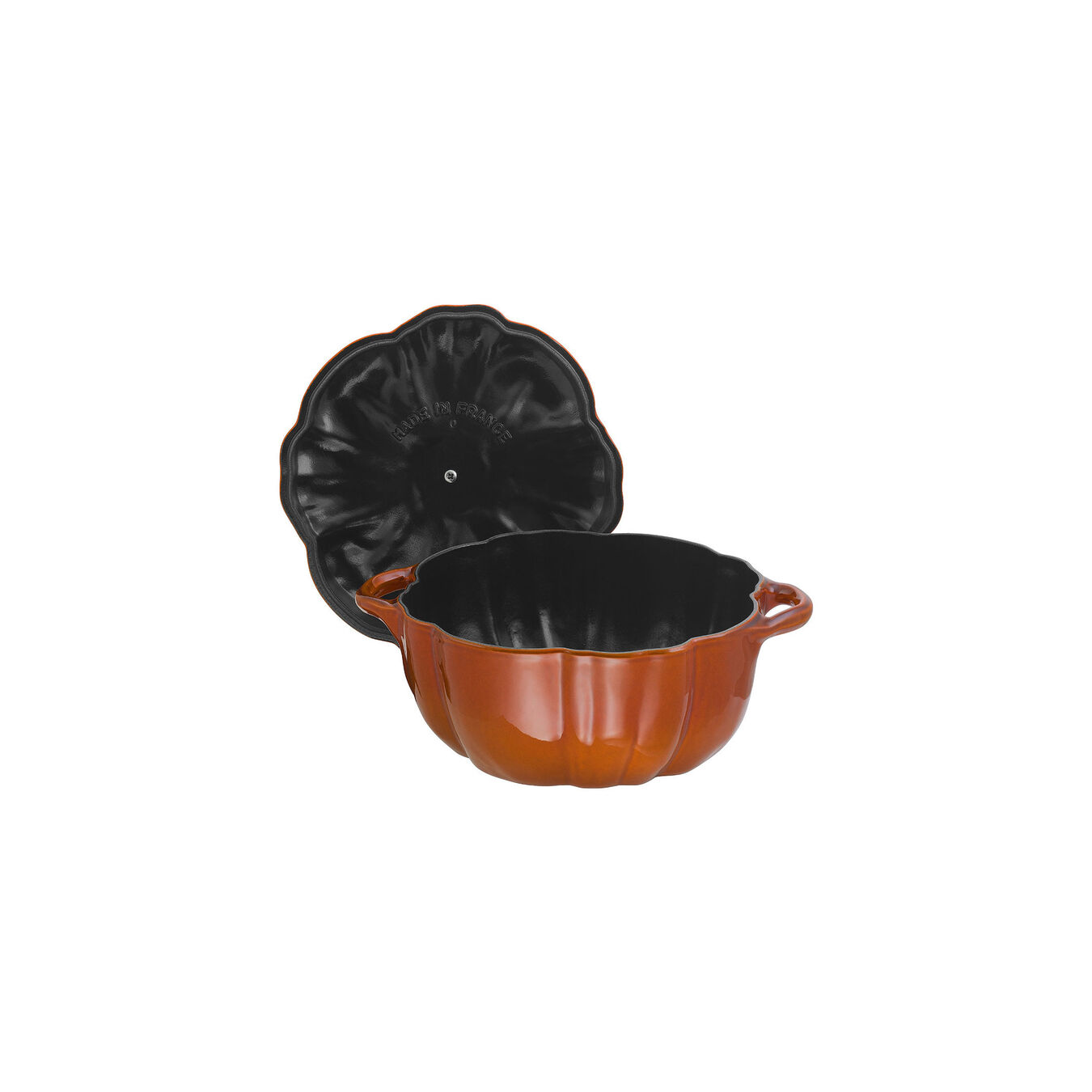 3.5 qt, pumpkin, Cocotte, burnt orange,,large 3