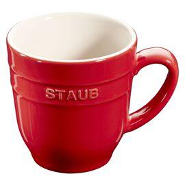 Staub Ceramique,  round Mug, cherry