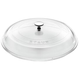 Staub Cast Iron, 12-inch Glass Lid domed made of glass