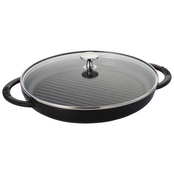 10-inch Round Steam Grill - Matte Black,,large