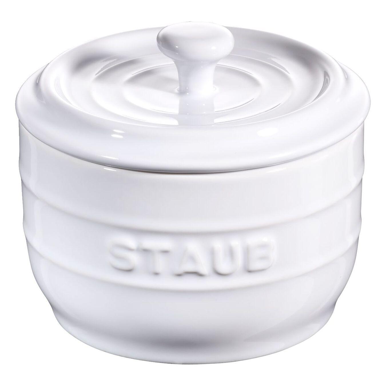 8 cm Salt crock, pure-white,,large 2