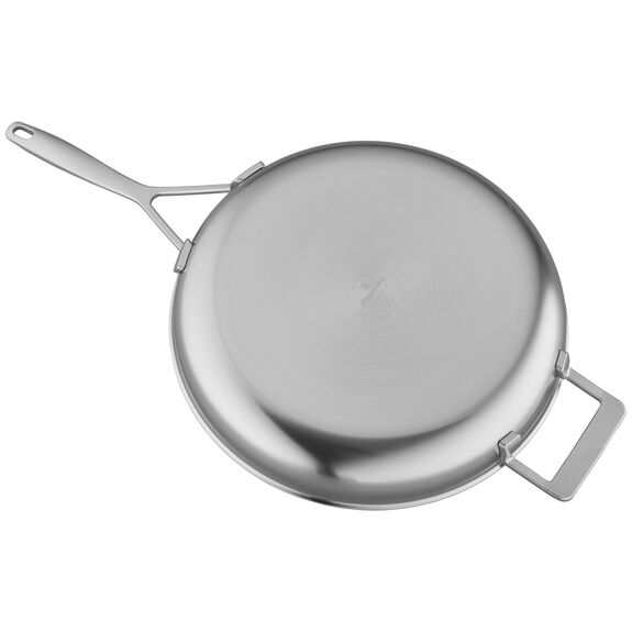 12.5-inch Stainless Steel Fry Pan with Helper Handle,,large 2