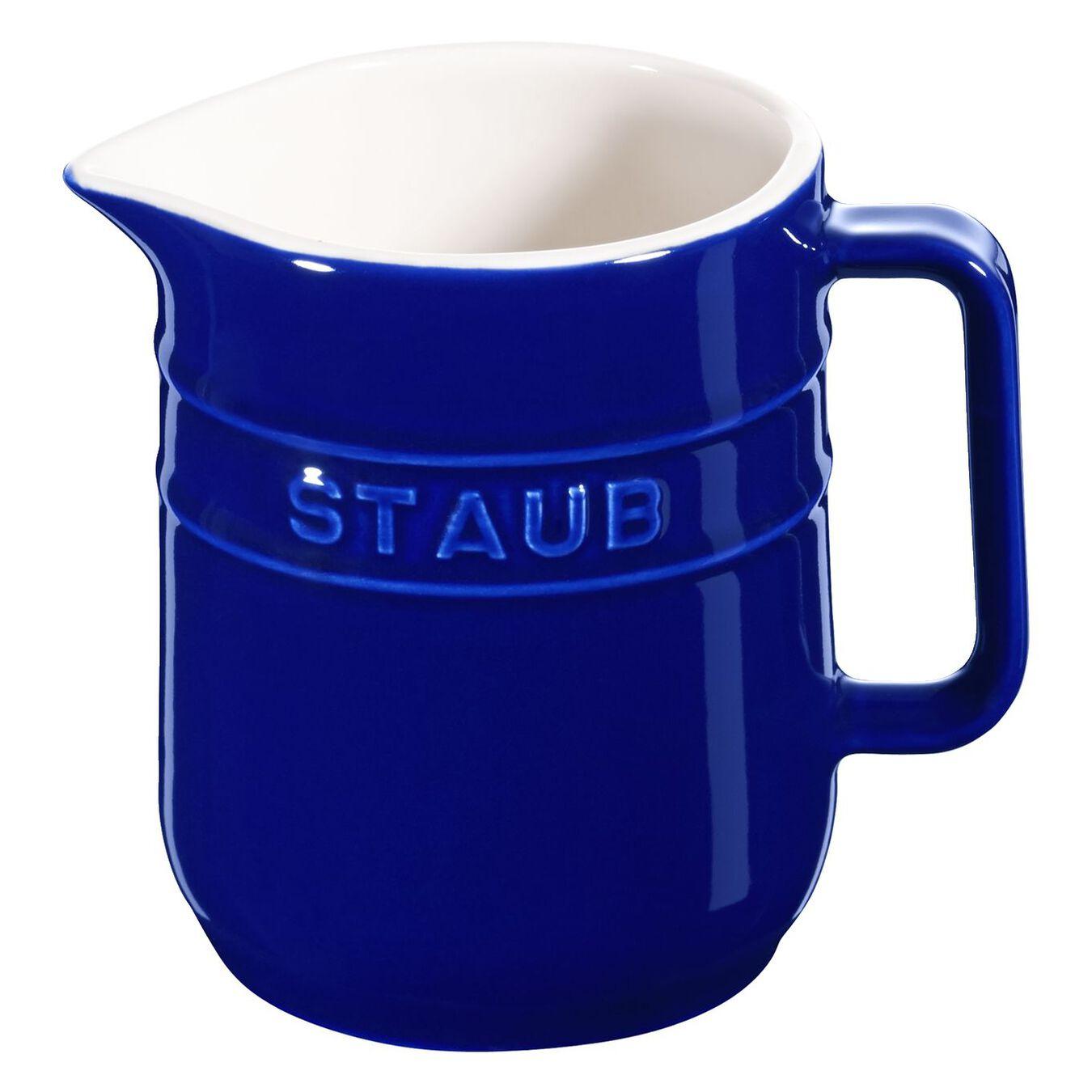 250 ml Ceramic Pitcher, Dark-Blue,,large 1