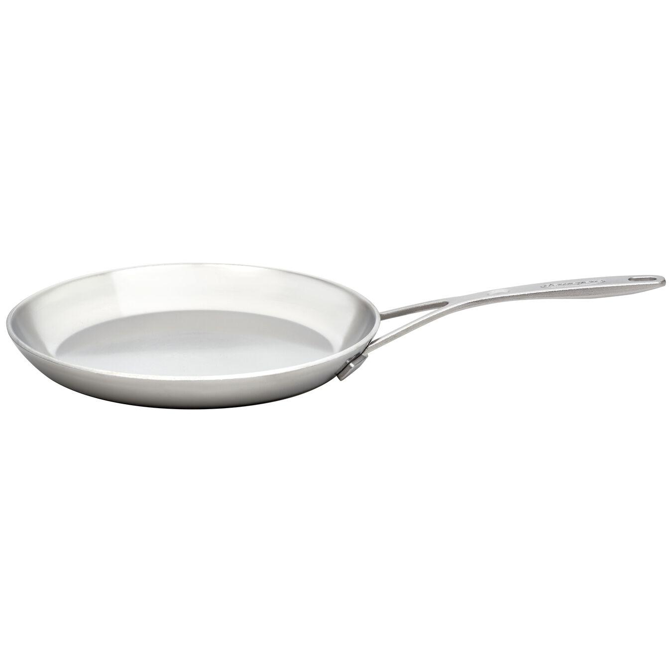 Crêpes-Pfanne 26 cm, 18/10 Edelstahl, Silber,,large 1