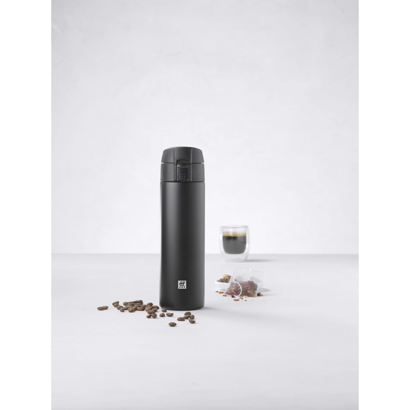 Thermos flask, 450 ml | Black,,large 5
