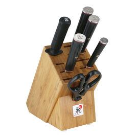 MIYABI Kaizen II, 7-pc, Knife block set, black matte