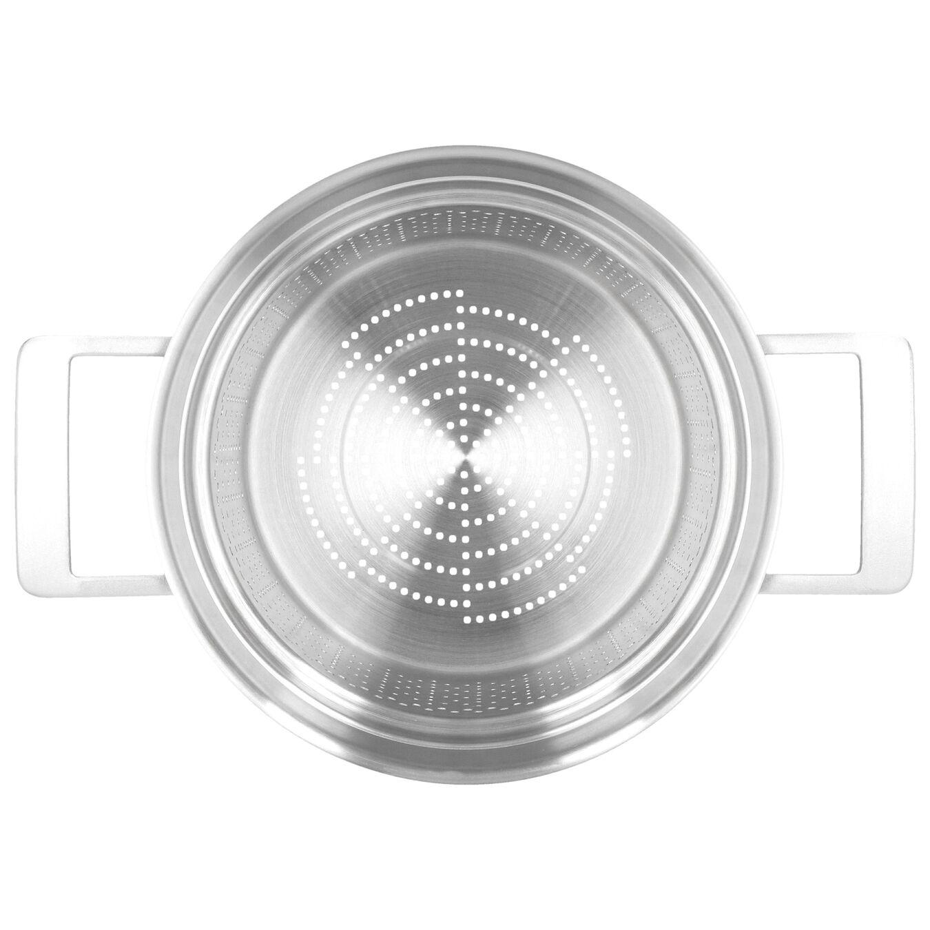 Nudeleinsatz, rund | 24 cm | Silber,,large 5
