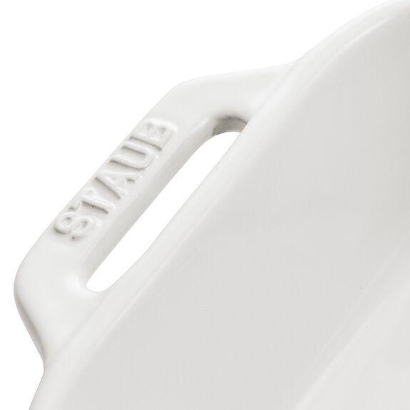 Fırın Kabı, 27 cm x 20 cm | Beyaz | Seramik | Dikdörtgen,,large 2