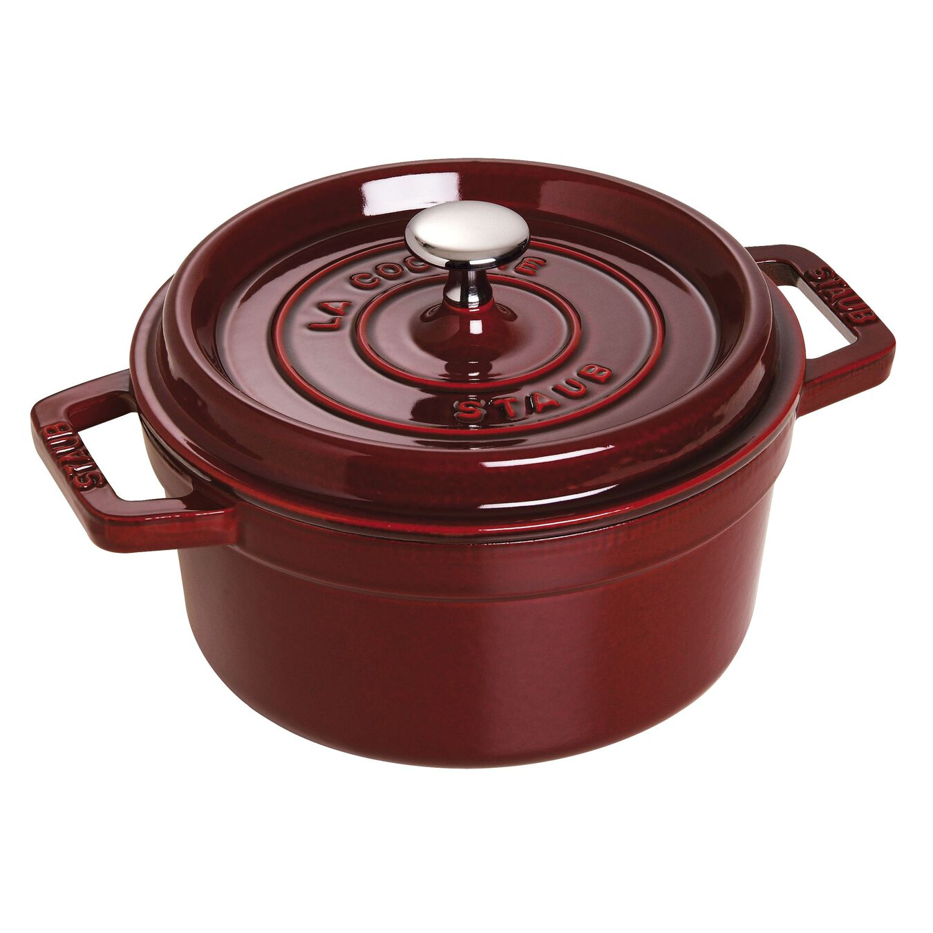 Cocotte 22 cm, rund, Grenadine-Rot, Gusseisen,,large 1