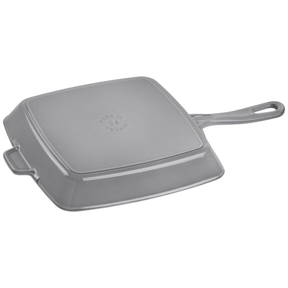 10-inch Square Grill Pan - Graphite Grey,,large 2