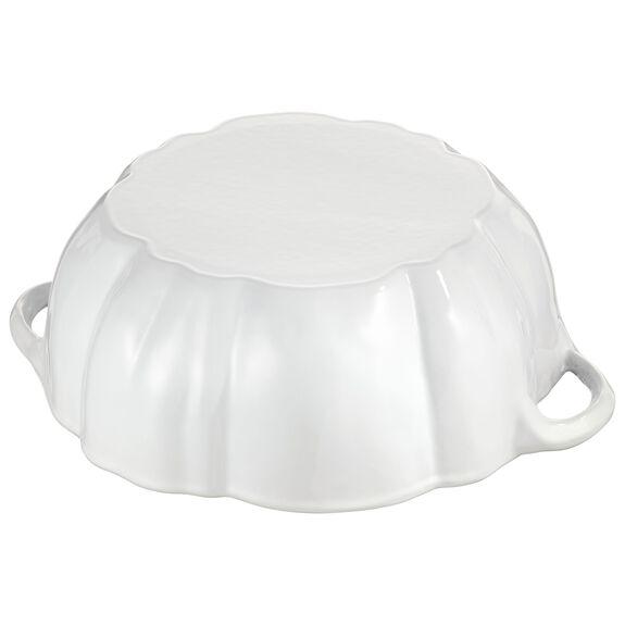 3.65-qt Pumpkin Cocotte, White,,large 6