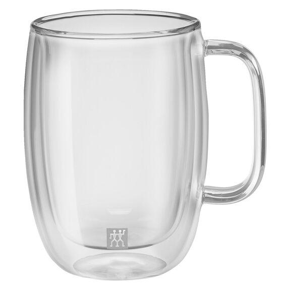 Çift Camlı Kulplu Latte bardağı seti, 2-parça,,large