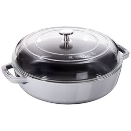 Staub Cast Iron, 4-qt Universal Deluxe Pan - Graphite Grey