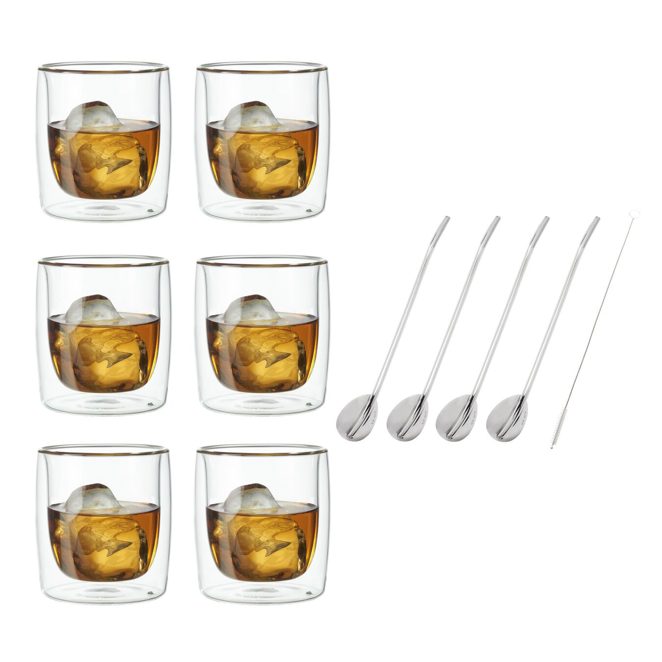 11-pc, Double wall glas, Tumbler glass set,,large 1