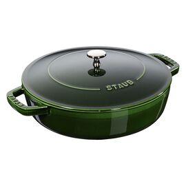 Staub Cast iron, 2.5 l Cast iron round Saute pan Chistera, Basil-Green