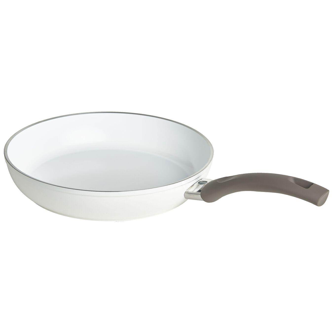 Bratpfanne flach 24 cm, Aluminium, Weiß,,large 1