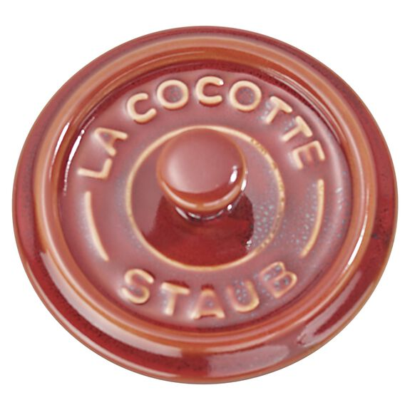3-pc round Cocotte set, Red,,large 2