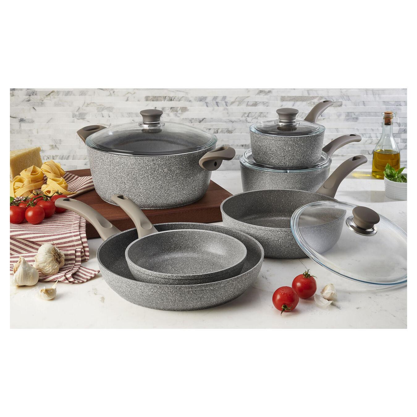 10-pc Aluminum Pots and pans set,,large 1