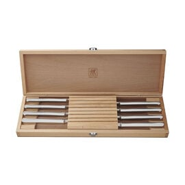 ZWILLING Steak Knives, 8-pc Stainless Steel Steak Knife Set w/Presentation Case