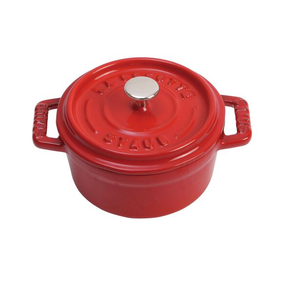 4-inch round Mini Cocotte, Cherry,,large 4