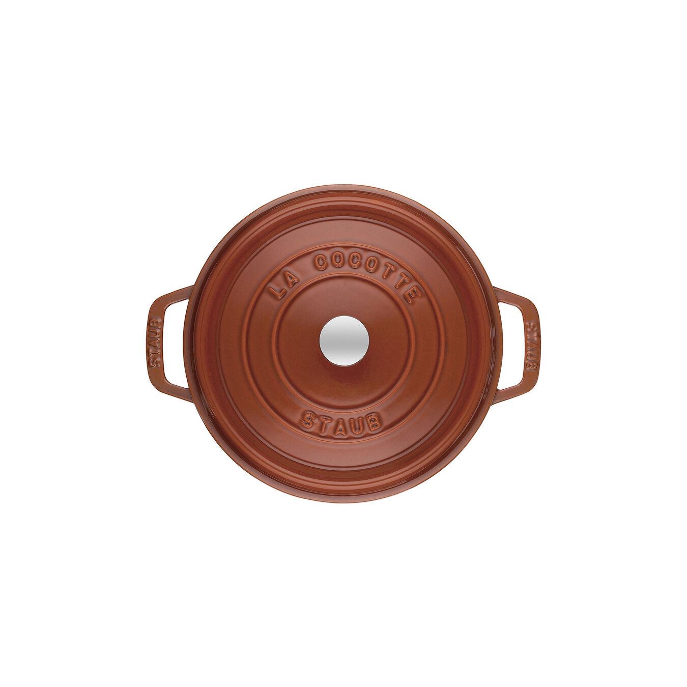 2.75-qt Round Cocotte - Burnt Orange,,large 2