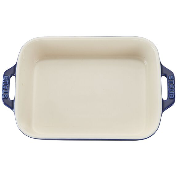 7.5-inch x 6-inch Rectangular Baking Dish - Dark Blue,,large 3