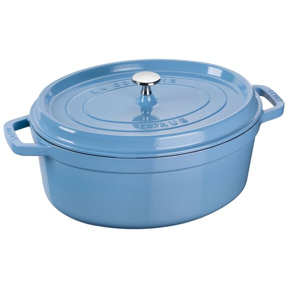 12.25-inch oval Cocotte, Ice-Blue,,large