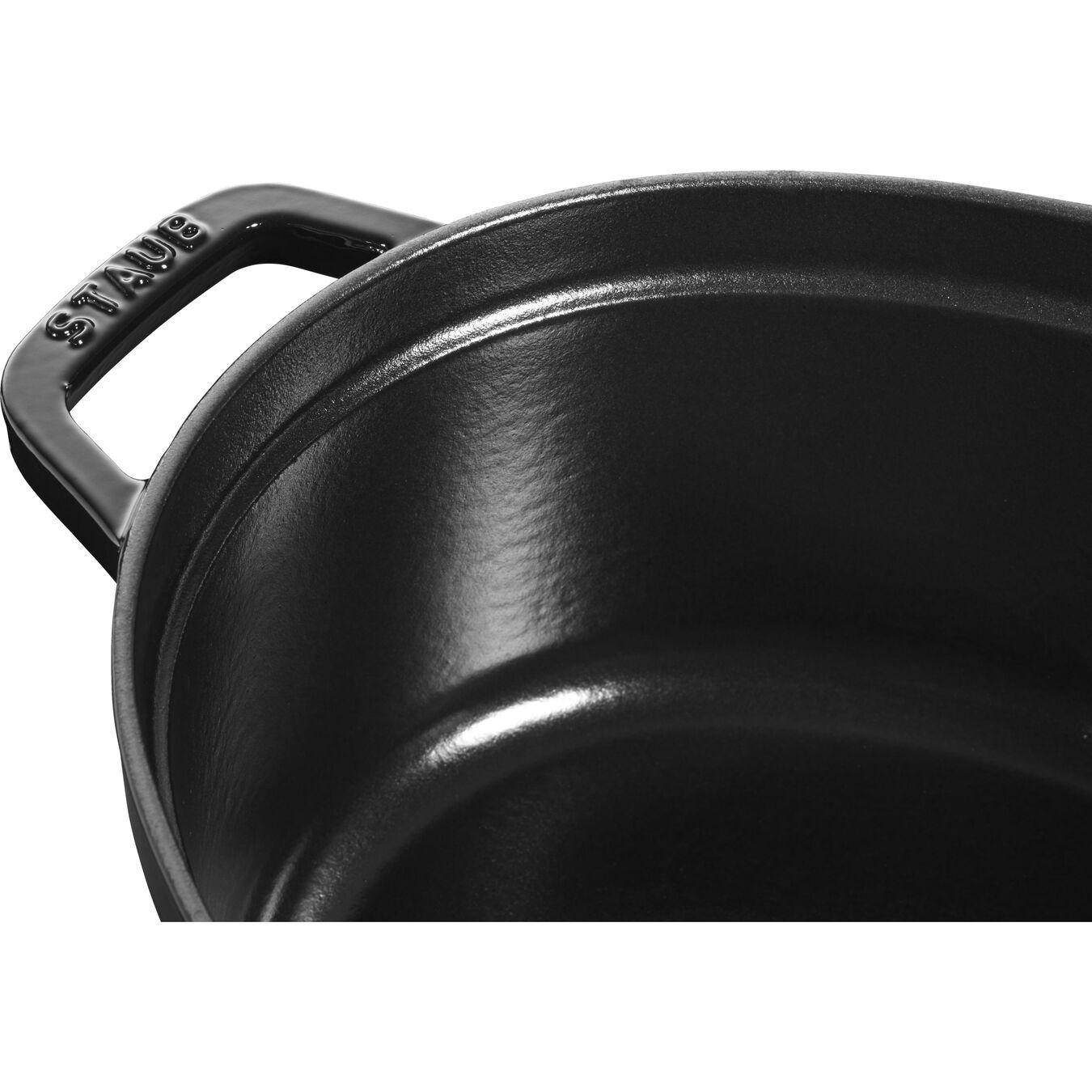 Cocotte 31 cm, Oval, Blank sort, Støbejern,,large 2