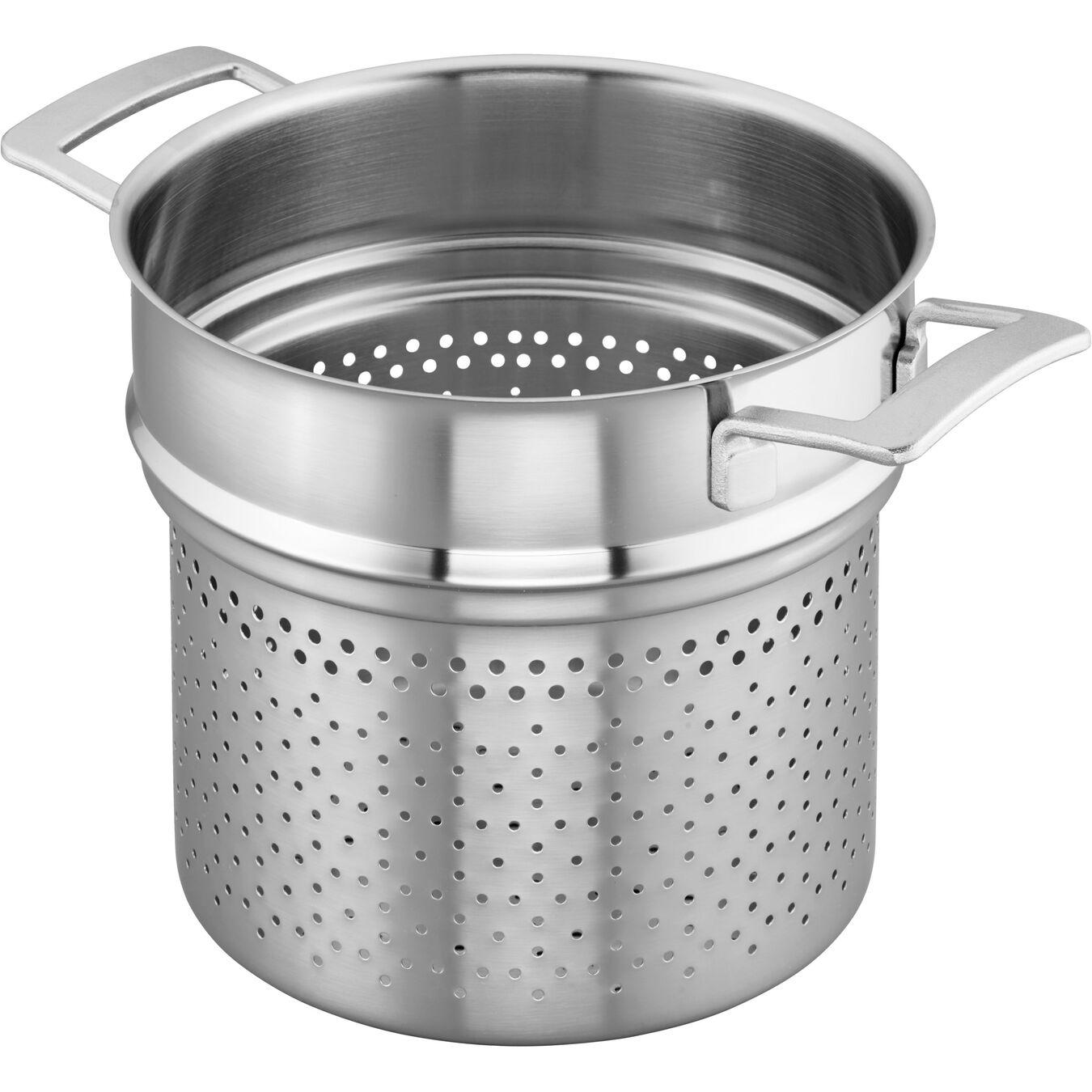 8-qt Stainless Steel Pasta Insert (Fits 8-qt Stock Pot),,large 3
