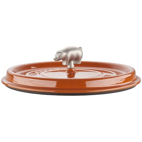 6-qt Cochon Shallow Wide Round Cocotte - Burnt Orange,,large 6