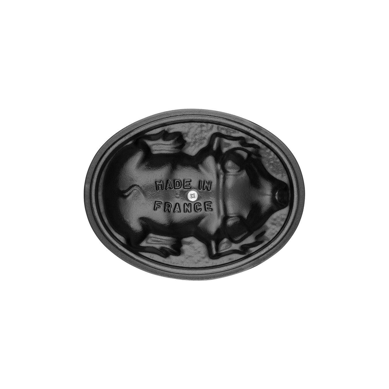 Cocotte 17 cm, Ovale, Gris graphite, Fonte,,large 2