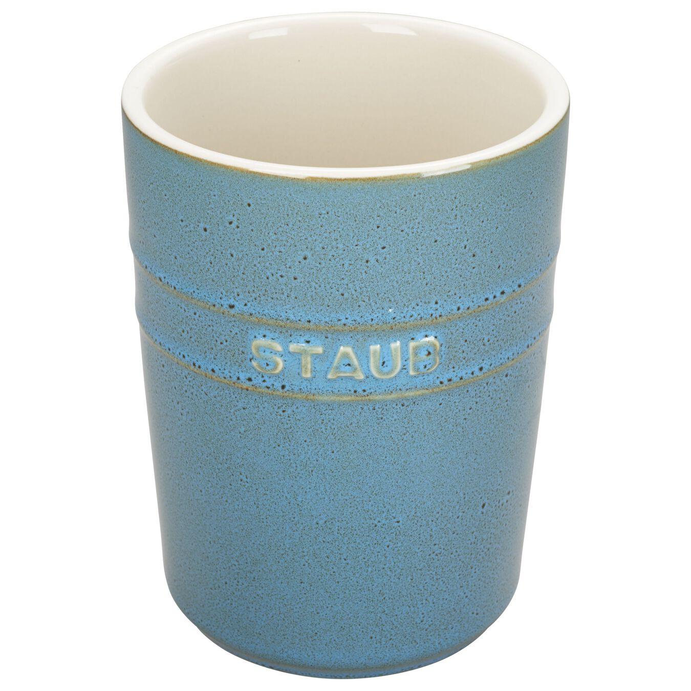 Utensil Holder - Rustic Turquoise,,large 1