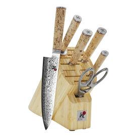 MIYABI Birchwood SG2, 7-pc, Knife block set, brown
