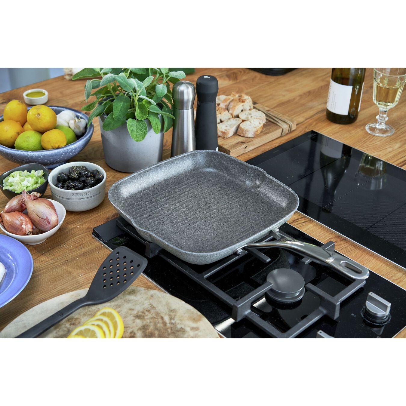 28 cm / 11 inch aluminium square Grill pan,,large 2