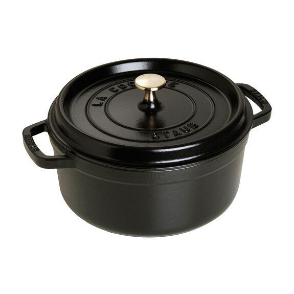4-qt round Cocotte, Black,,large 2