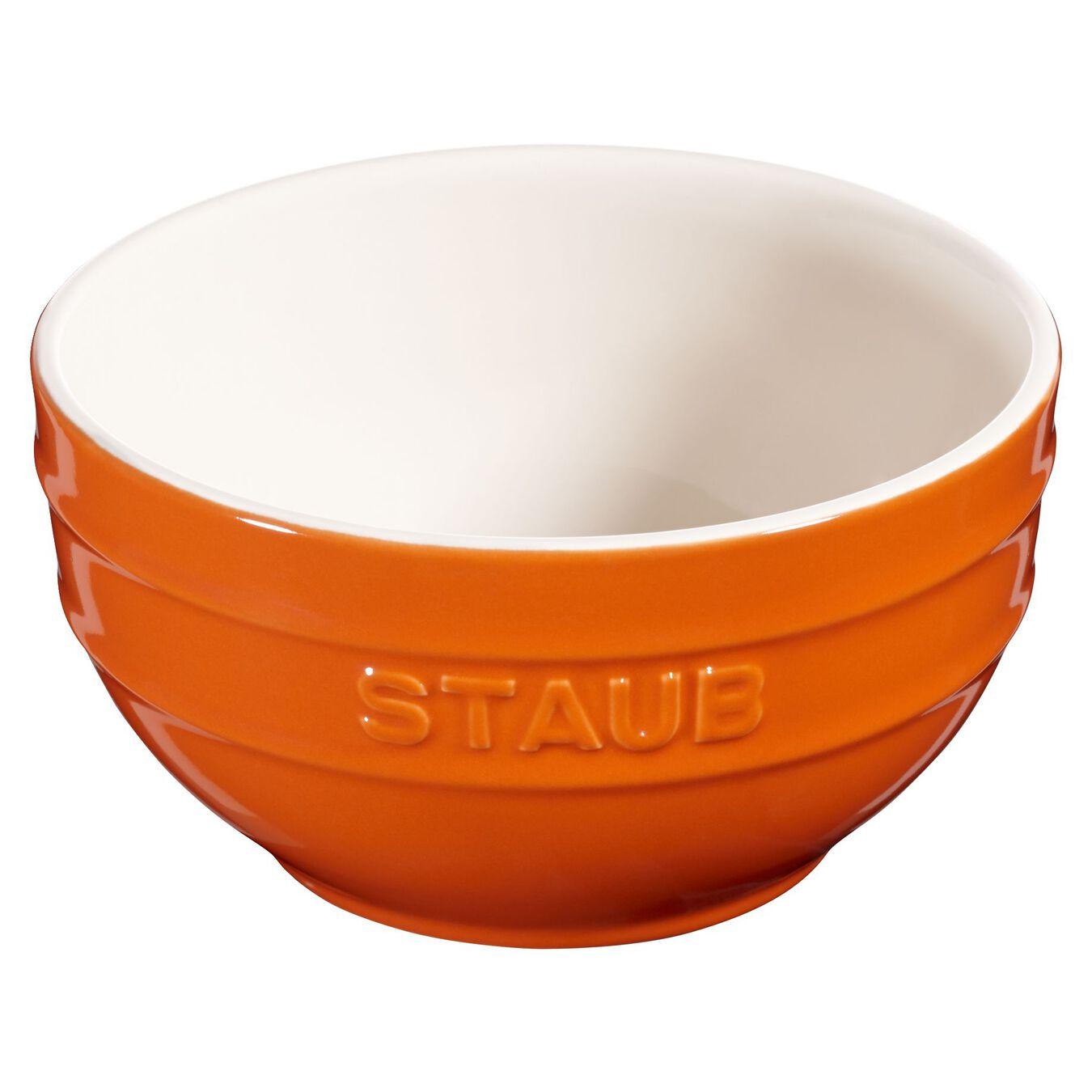 Skål 14 cm, Keramisk, Orange,,large 1