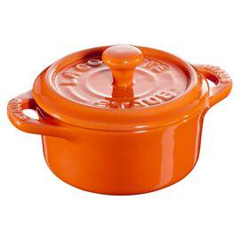 Staub Ceramique, Mini Cocotte 10 cm, rund, Orange, Keramik