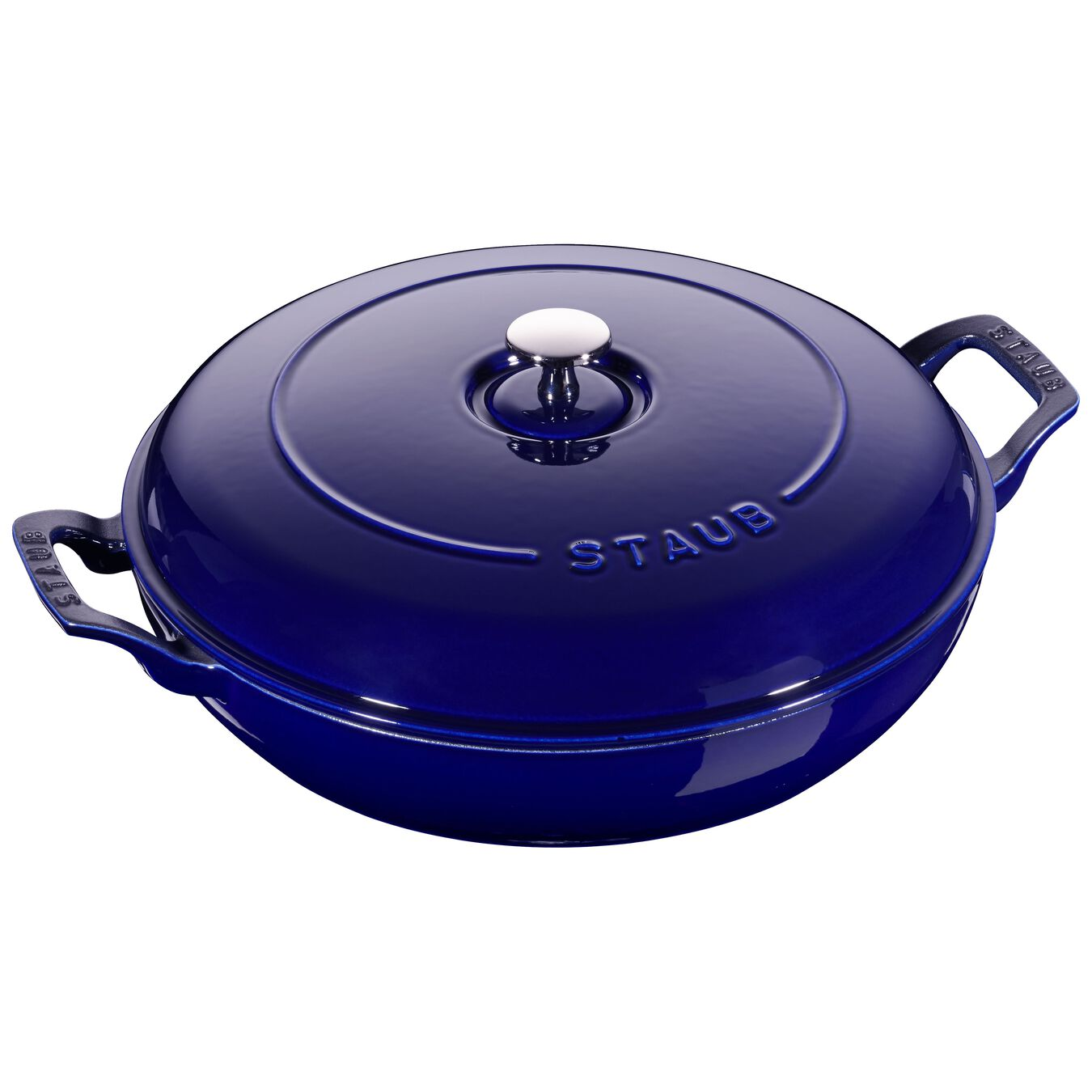 12-inch, Saute pan, dark blue,,large 1