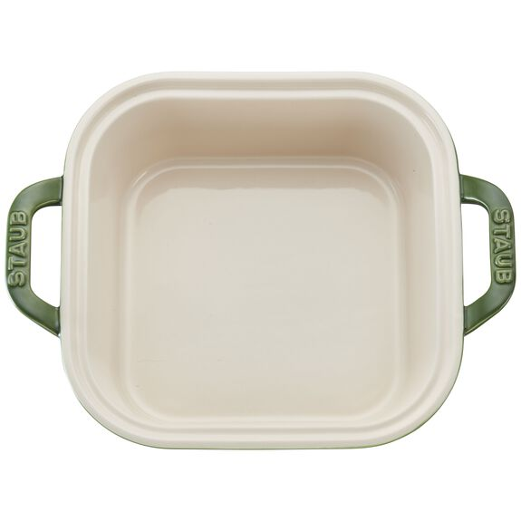 9-inch x 9-inch Square Covered Baking Dish, Basil, , large 2