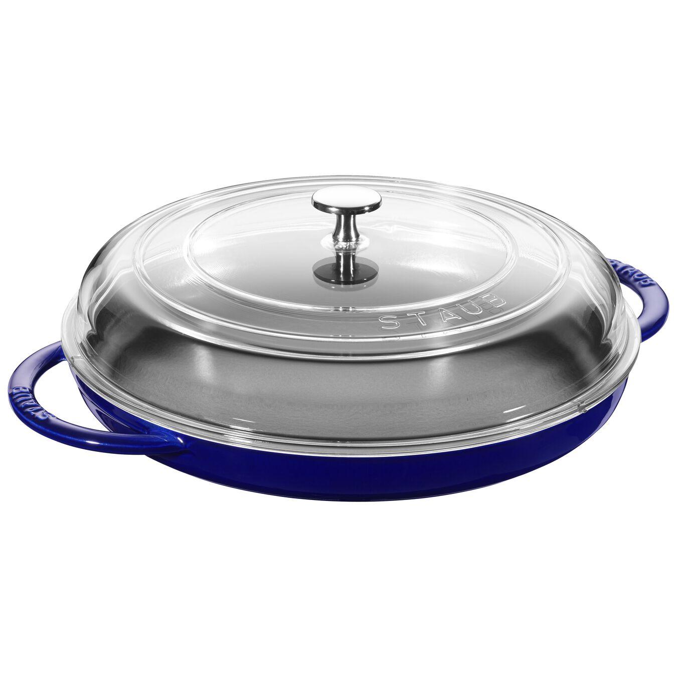 round, Griddle, dark blue,,large 1