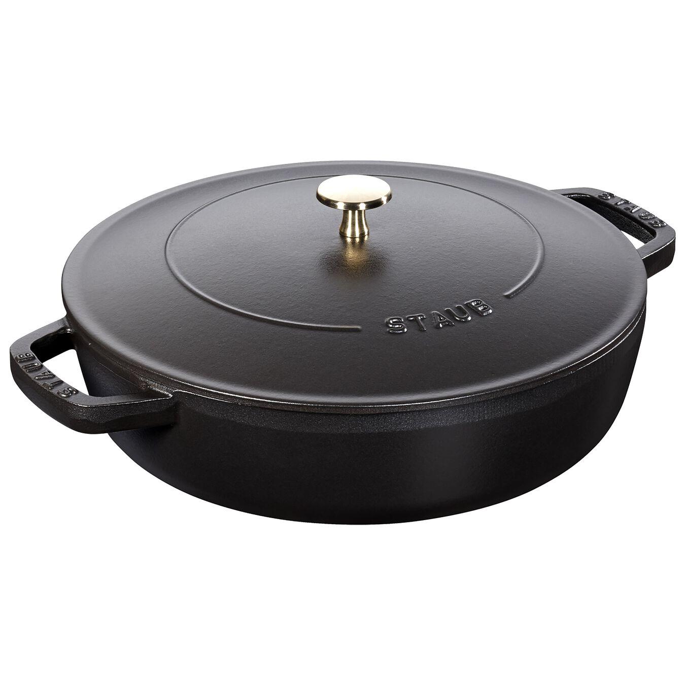 3,25 l Cast iron round Braisière, Black,,large 1