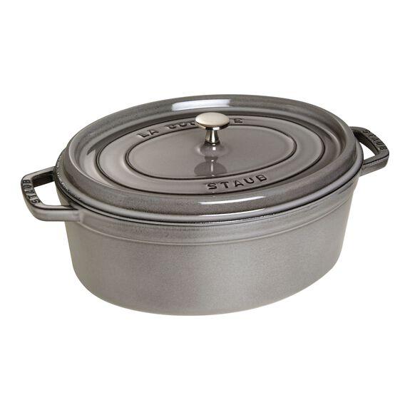 7.25-qt oval Cocotte, Graphite Grey,,large 2