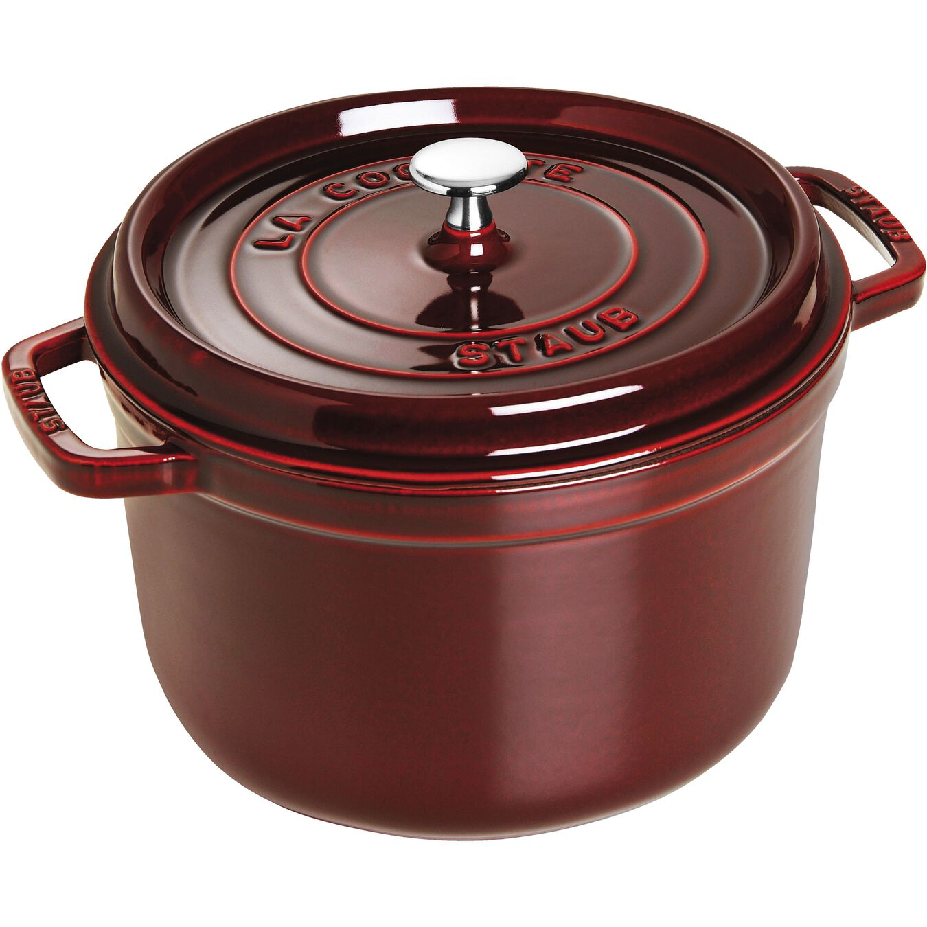 4.8 l round Tall cocotte, grenadine-red,,large 1