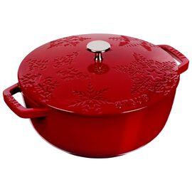 Staub Cast Iron, 3.75 qt, French oven, cherry