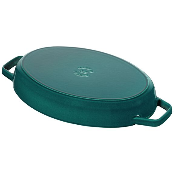 13-inch Cast iron Oven dish with lid,,large 3