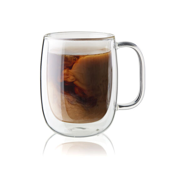 4-pc Double-Wall Glass Coffee Mug Set,,large 2