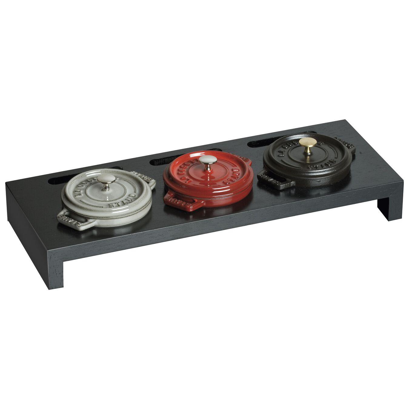 Fiber wood, Mini Cocotte Stand, black matte,,large 1