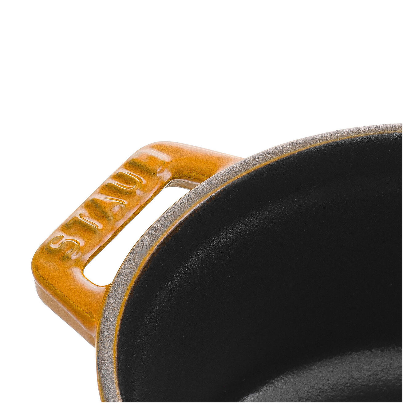 Mini Cocotte 10 cm, rund, Senf, Gusseisen,,large 3