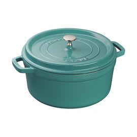 Staub Cast Iron, 5.5-qt Round Cocotte - Turquoise